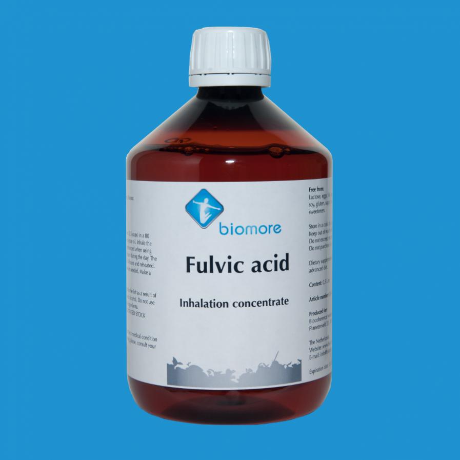 Fulvic acid inhalation