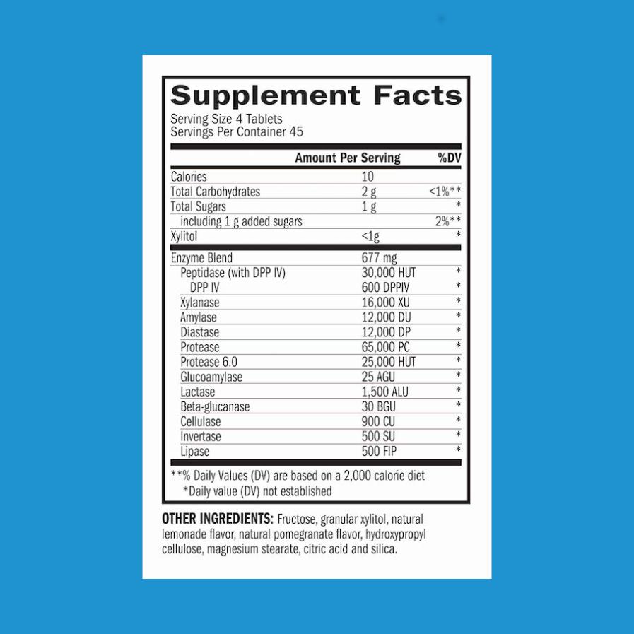 TriEnza 180 chewables supplement facts